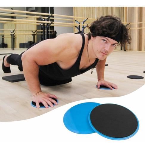 Imagen 1 de 10 de Pack 20 Pares Discos Deslizadores Sliders Ejercicios Fitness