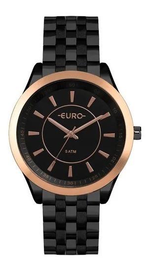 Relógio Euro Feminino Color Slim Preto - Eu2035yow/4p