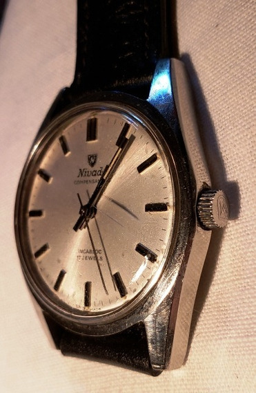 Relógio Pulso Nivada, Corda, Compensamatic, 17 Jewels,