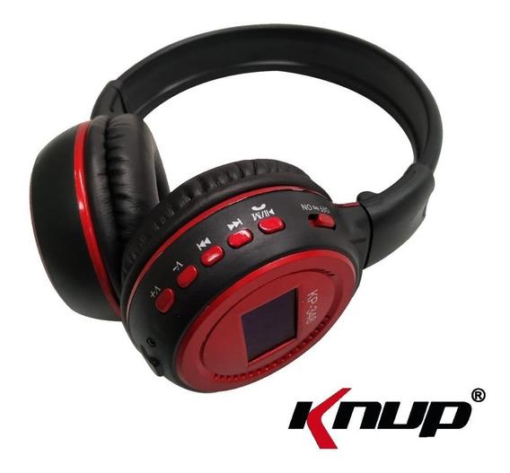 Fone Ouvido Headset Knup Kp-348 Bluetooth Sem Fio Wireless