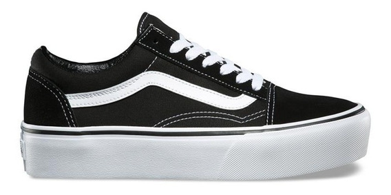 Vans Tenis Casuales Originales Old Skool Plataforma Sneakers