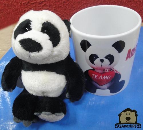 Imagem 1 de 6 de Caneca Porcelana Cute Presente Amor Love + Urso Panda 15 Cm
