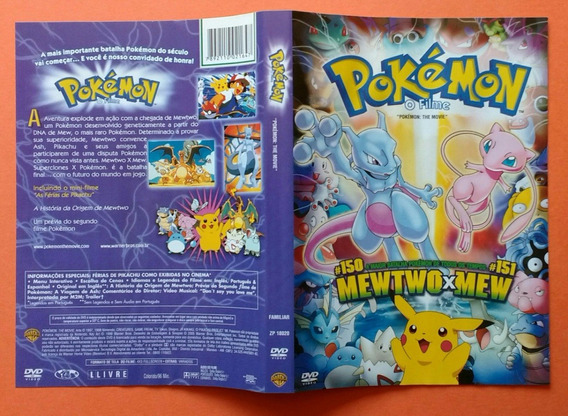 Dvd Pokémon - O Filme ( Mewtwo X Mew ) Warner Bros.