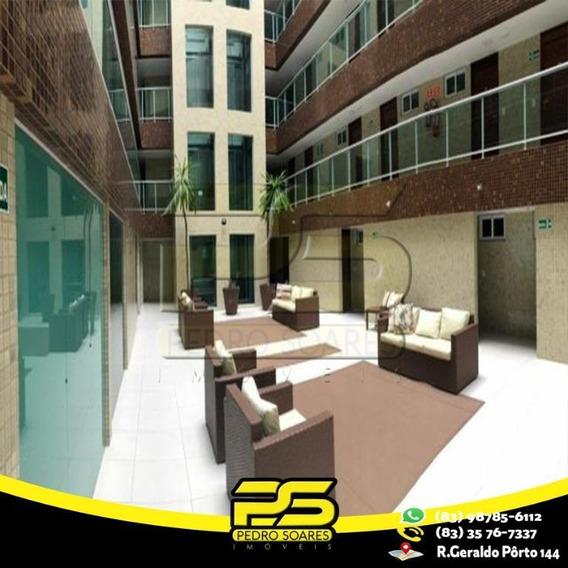 Flat Com 1 Dormitório Para Alugar, 50 M² Por R$ 150.000/mês - Intermares - Cabedelo/pb - Fl0068