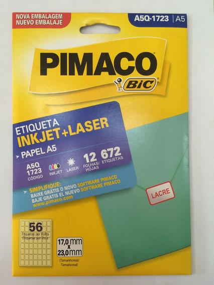 Etiqueta Pimaco A5q-1723 Com 12 Folhas Pimaco C/1 Unidade.