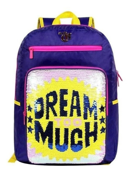 Mochila Capricho Lantejoula 11320 Dream Too Much Anel Selfie