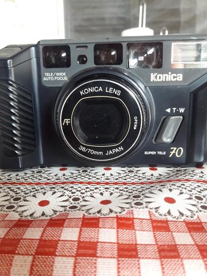 Câmera Konica Mr.70 Lx Com Flash Japonesa Raríssima