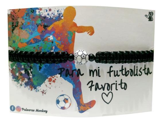 Pulsera Futbol Soccer Tejida Ajustable Para Hombre O Mujer