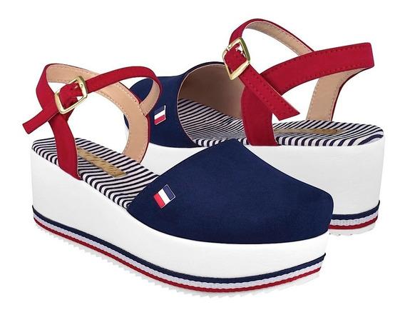 Zapatos Casuales Para Dama Stylo 6007 Marino Rojo