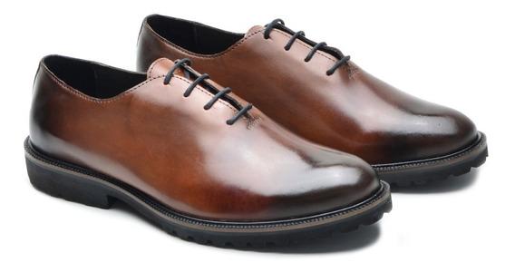 Sapato Masculino Social Em Couro Liso Tamanhos 36 Ao 49