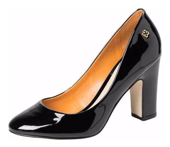 Zapato De Charol Con Taco Alto Mujer 4010178