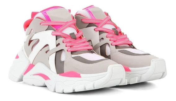 Tênis Feminino Sneaker Chunky Neon Flatform Zatz Lançamento
