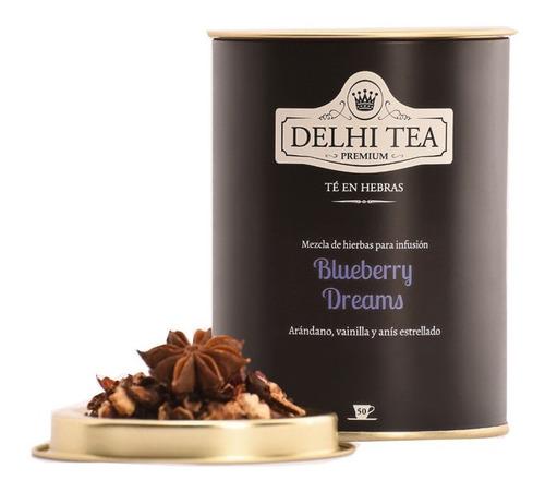 Imagen 1 de 2 de Te Hebras Delhi Tea Premium Lata Blueberry Dreams