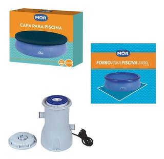 Kit Capa Forro Filtro P/ Piscina Splash Fun 2400 L - Mor