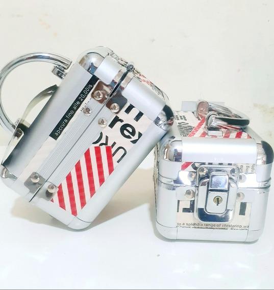 Kit 2 Portas Jóias Em Alumínio Com Chaves