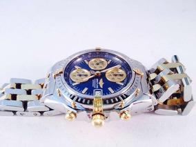 Relógio Breitling Cronomath Aco E Ouro B13050.1