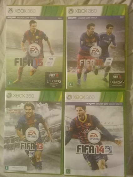 4 Jogos De Xbox 360 Tudo 220 Mídia Física Fifa 13 14 15 16