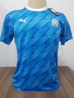 Camisa Olympique De Marseille 2020 S/ Nº - Azul