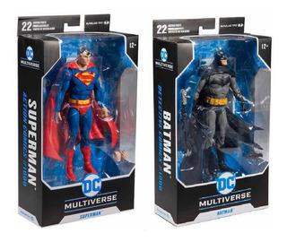 Mcfarlane Dc Multiverse Batman & Superman Set De 2 Figuras