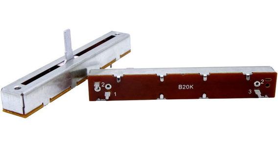 2 Unids Potenciômetro Deslizante Mono B20k 20kb 88mm X 60mm