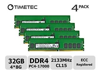 Timetec Hynix 32gb (4x8gb) Ddr4 2133mhz Pc4-17000 Registered