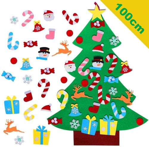 Árbol De Navidad De Fieltro Para Niño Y Bebés, 100cm