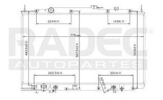 Radiador Honda Odyssey 1999-2000-2001-2002 V6 3.5 Lts Auto