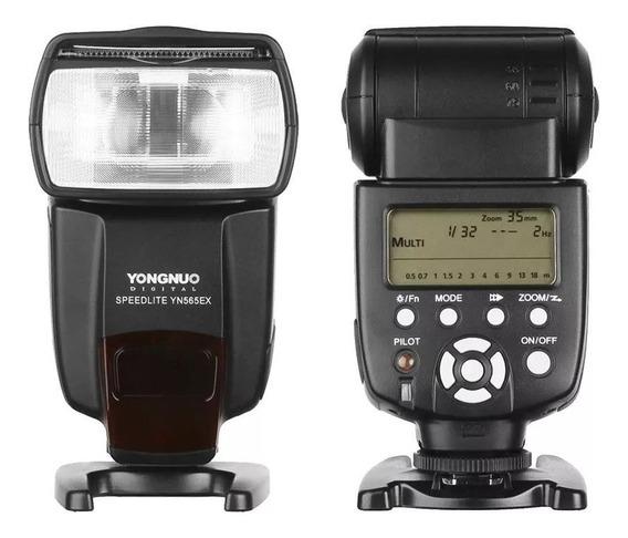 Flash Yongnuo Speedlite Yn565ex Ii Para Câmera Canon