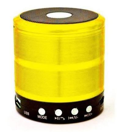 Caixa De Som Bluetooth Recarregável Mini Portátil Amarelo