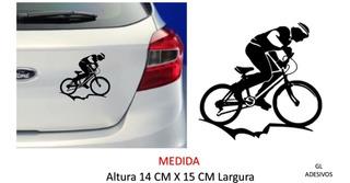 Adesivo Bike Ciclista Bicicleta Personalizado Carro E Motos