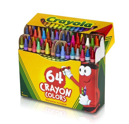 Crayola Crayones 64 Unidades Crayon Educando