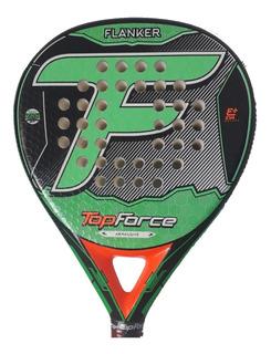 Paleta Padel Top Force Flanker Eva Y Foam + Grip + Protector