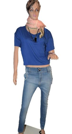 Desiderata Remera Color Azul Clasica Promo