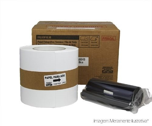 Kit Papel + Ribbon 10x15 Para Impressora Fuji Ask 300