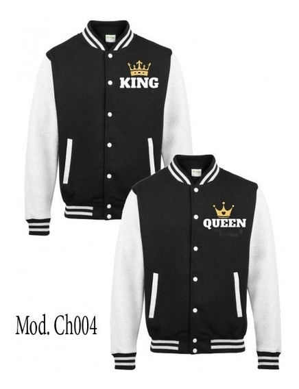 Chaqueta King And Queen Bordadas Enamorados Parejas Novios