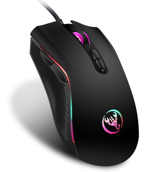 Rato De Jogo De Computador Com Fio Usb Led A869