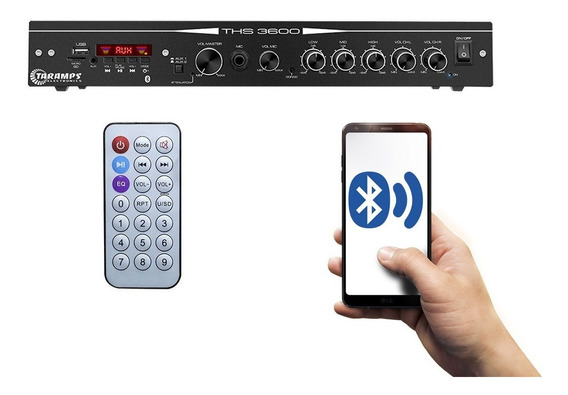 Amplificador Taramps Residencial Home Ths 3600 Usb Bluetooth