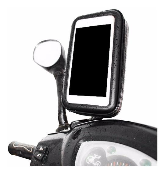 Suporte Celular Smartphone Gps Moto Burgman Biz Retrovisor