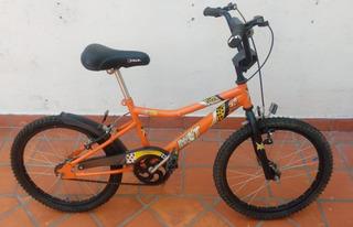 Bicicleta Velo, Color Naranja Rodado 20 Usada Sin Envio