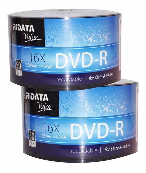 Dvd Virgen Ridata 4.7 Gb 16x Paq. De 100