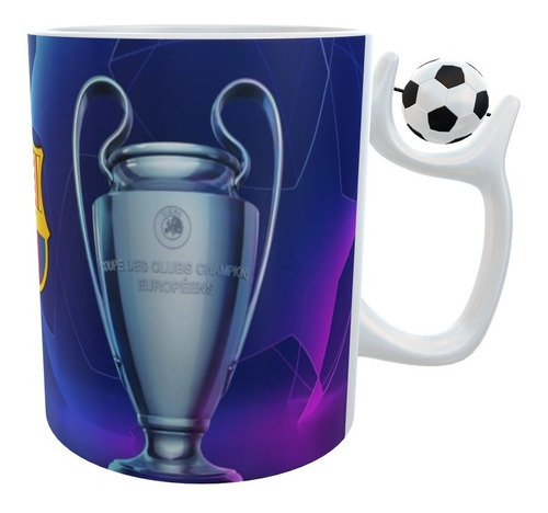 Mug Fc Barcelona Uefa Champions League Con Balon En Oreja