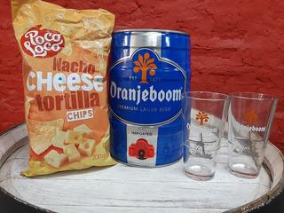 Cerveza Oranjeboom Barril 5lts + 2 Vasos / Envío Gratis Caba