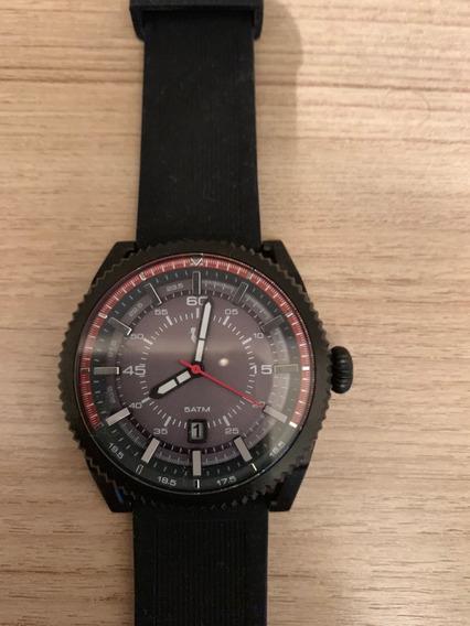 Relógio Reserva - R/09 - Preto E Vermelho