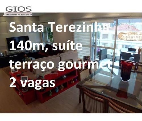 Apartamento Com 3 Dormitórios À Venda, 145 M² Por R$ 1.450.000,00 - Santa Terezinha - São Paulo/sp - Ap0223