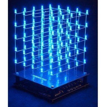 DIY electrónica LEDs azules Velleman k8018b 3d LED-Cube 5 x 5 x 5 Kit