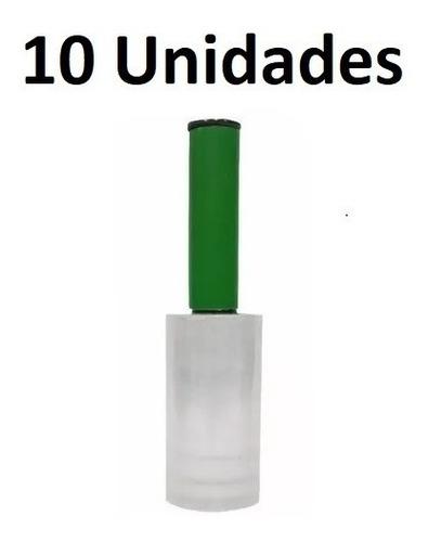 10x Rolo Filme Plastico Stretch 10cm X 120m Cabo Aplicador