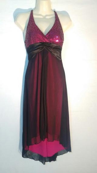 Vestido De Dama City Tiangles Elegante De Fiesta Rosa Tall S