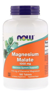 Magnesio Dimalato Malato Now Foods 180 Tabletes Importado