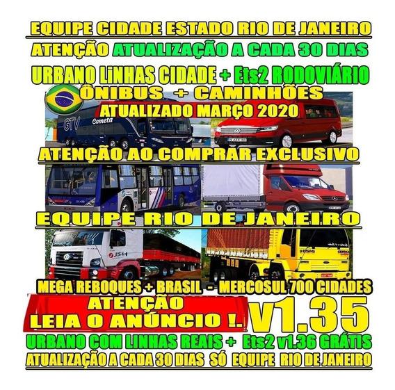 Jogo Euro Truck 2 Mod Brasil Bus+ Caminhões Bitrem 2020v1.35