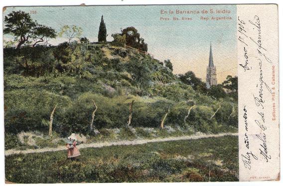 Tarjeta Postal Antigua Barranca De San Isidro- 1905 Postal